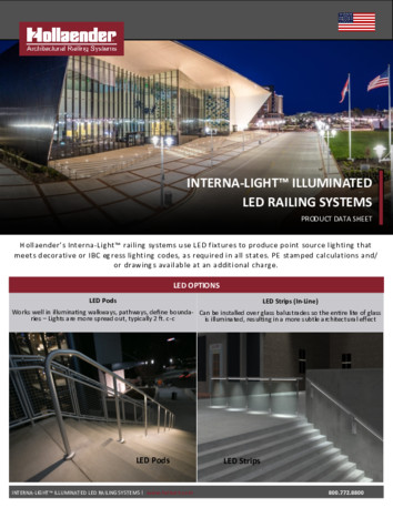 Interna-Light™ Illuminated Railing Product Data