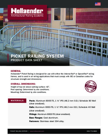 Picket Railing Product Data Sheet