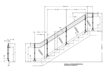 Interna-Rail® VUE Sloped Stringer Mount