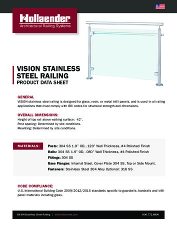 VISION Stainless Steel Railing